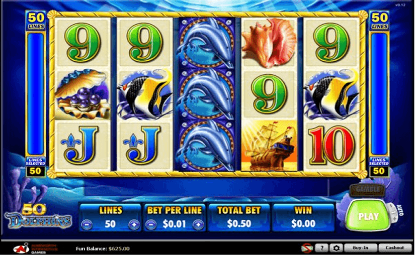 Play 50 Dolphins Online Video Slot For Free