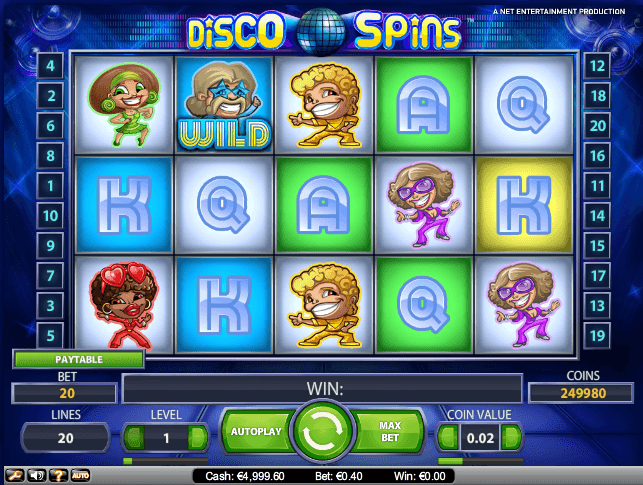 Play Disco Spins Online Video Slot For free