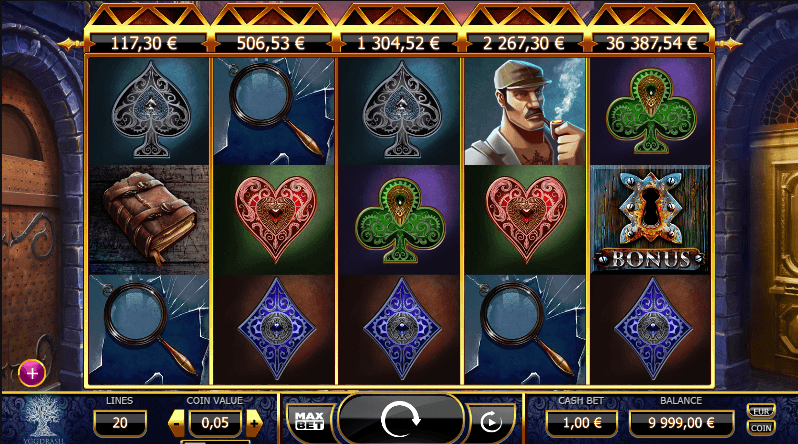 Holmes and the Stolen Stones Slot Machine - Play for Free Now