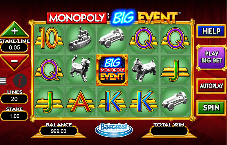 Play Monopoly Big Event Online Slot For Free