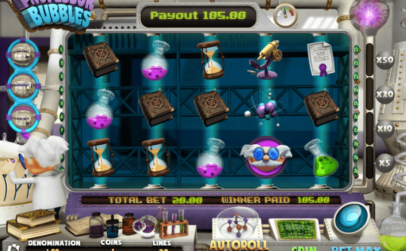 Play Professor Bubbles Online Video Slot For Free