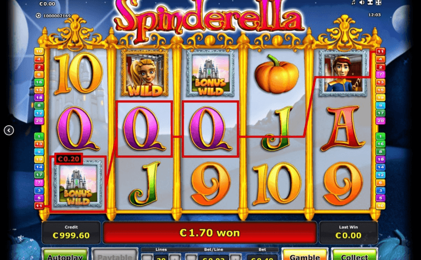 video slots online spinderella