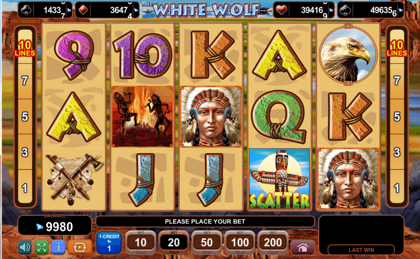 Play White Wolf EGT online video slot for free