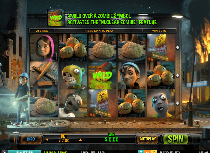 PLay Zombie Rush Slot For Free