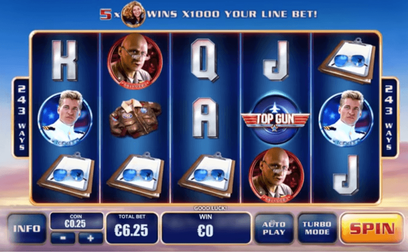 PLay Top Gun Online Video Slot For Free