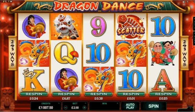 Play Dragon Dance Online Slot For Free