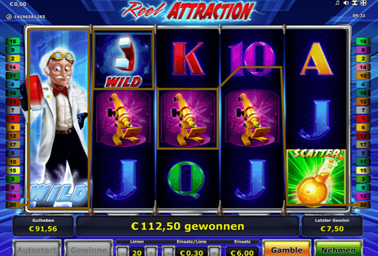 Play Reel Attraction Online Video Slot For Free