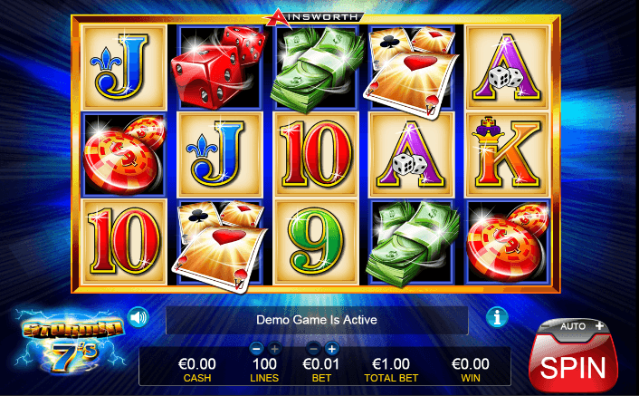 Play stormin 7's online slot for free