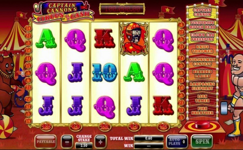 Captain Cannons Circus Slot - Play it Now for Free