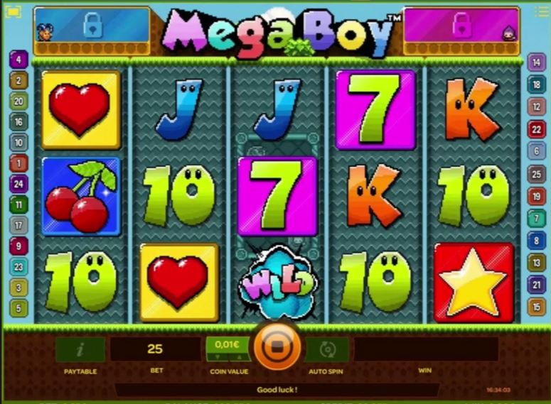 Mega Boy Slot Machine - Play this Game for Free Online