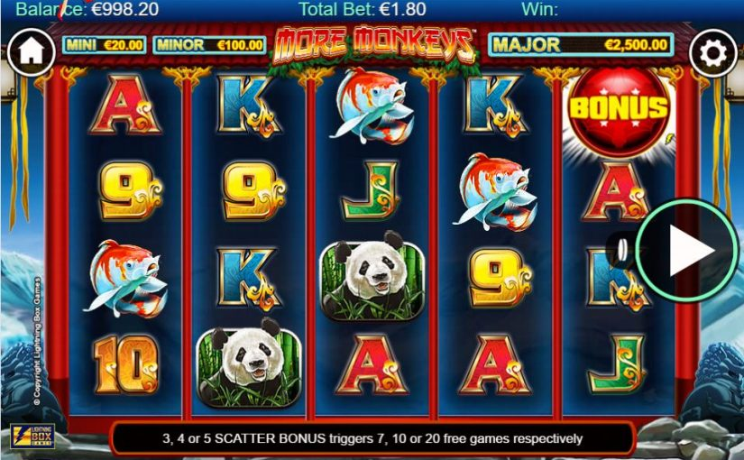 Play Stellar Jackpots with More Monkeys Online Video Slot For Free