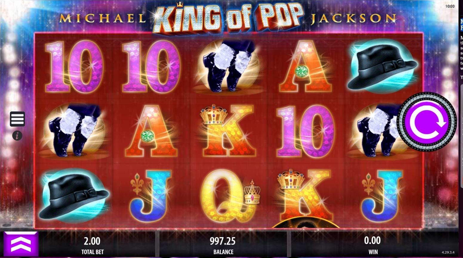 Michael Jackson Slot Machine - The King of Pop Online Slot Review