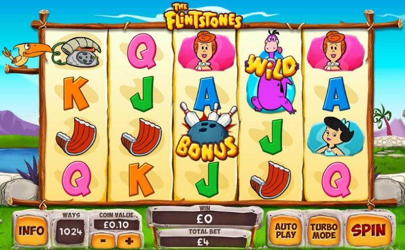 Play Flintstones online slot for free
