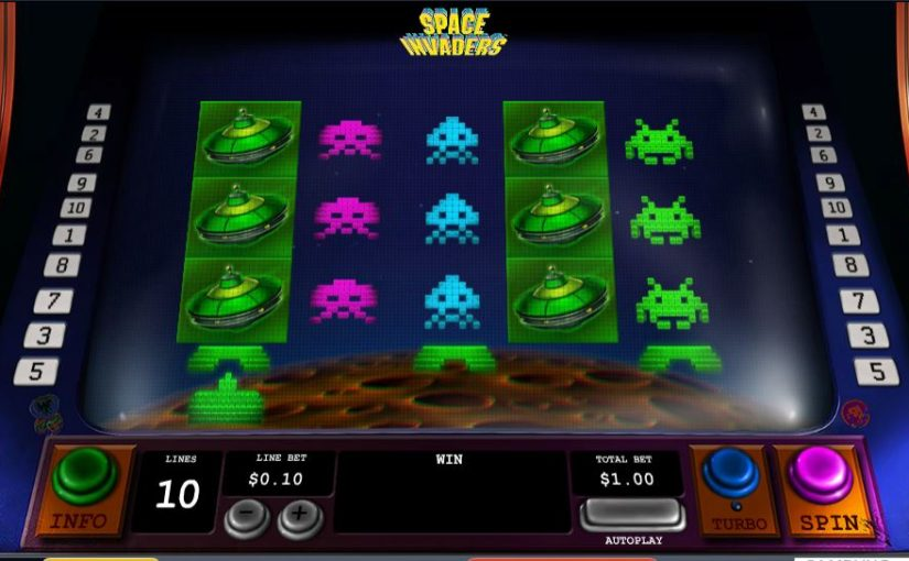Play Space Invaders Online Video Slot For Free