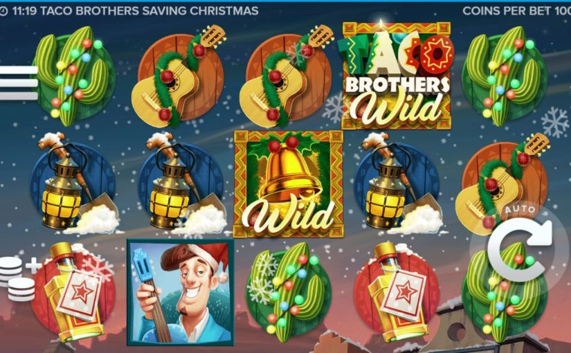 Play Taco Brothers Saving Christmas Video Slot For Free