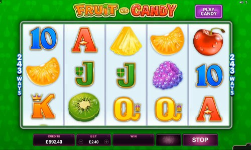 Play Fruit Vs Candy Online Slot For Free