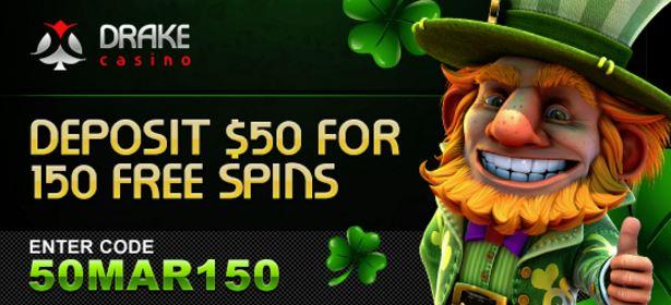 drake casino free spins code