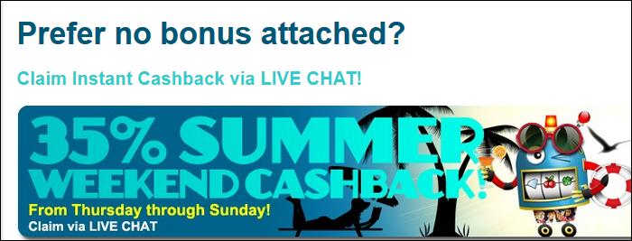 Cashback At Sloto'Cash Casino!