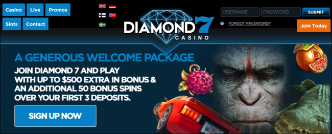 Match Bonus At Diamond7 Casino!
